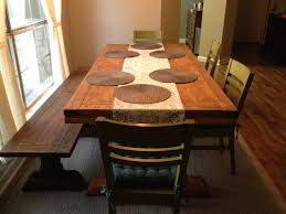 Traditional Dining Room Ideas Classic Barn Wooden Dining Table Set With Upholstery Chairs Also