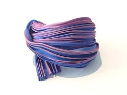 shibori ribbon shibori ribbon purple borealis 10cm