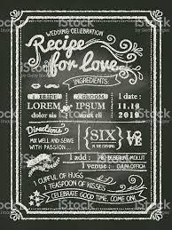 wedding backdrop chalkboard recipe for chalkboard wedding invitation card stock vector