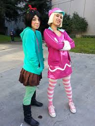 family costumes halloween wreck it ralph vanellope and taffyta funny halloween costumes