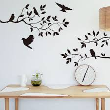 aliexpress com buy drop shipping black bird tree branch wall aliexpress com buy drop shipping black bird tree branch wall sticker wall quote decal removable art home mural decor decoration flying birds decals from