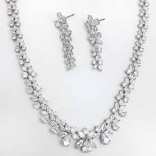 bridal necklace set gold images Levinia 39 bridal necklace set silver or rose gold glam couture jpg