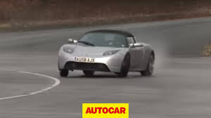 tesla roadster will it drift tesla roadster by autocar co uk youtube