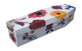 cardboard casket white cardboard coffin for family friends to decorate