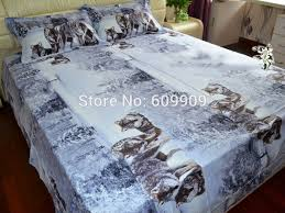 Wolf Bedding Set Western Bedding Sets Tokida For