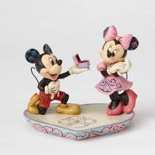 a magical moment mickey proposing to minnie figurine jim shore