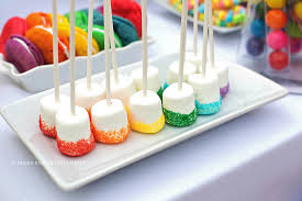and she turns 7 u2026 rainbow parties marshmallow and sprinkles