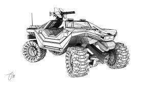 halo warthog m12 lrv warthog wireframe by jasonmartin3d on deviantart