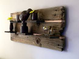 rustic reclaimed barn wood wall shelf by thebarnyardshop