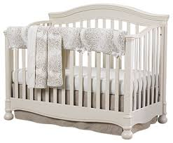 gender neutral baby bedding with american made bumper free crib
