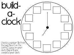 printable clock template without numbers template hot clock template