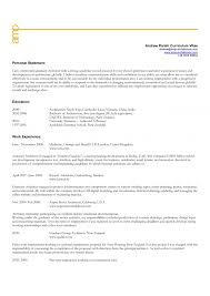Example Of Personal Statement For Resume Cover Letter Personal Statement Resume Examples Examples Personal