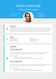resume with picture template le marais free modern resume template