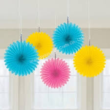 hanging paper fans paper decorations wall hanging paper fan buy wall hanging paper