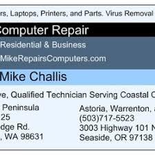 It Technician Business Card Mike U0027s Computer Repair It Services U0026 Computer Repair 3003 Hwy