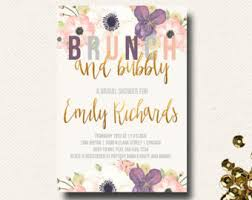 brunch bridal shower invites fall bridal shower invitation brunch chagne bubbly roses