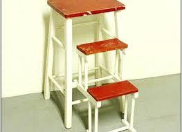 Step Stool Chair Combination Folding Kitchen Step Stool Vintage Retro Chair Bar Black Stools