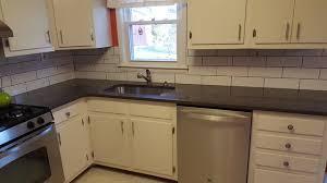 Calypso Silestone Countertops And Subway Tile Backsplash - Silestone backsplash