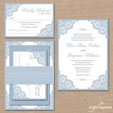 light blue wedding invitations elegant lace wedding invitation suite square by mycrayonspapeterie