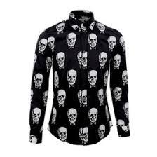 skull dress shirts online t shirts skull punk dress for sale