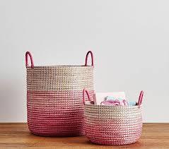kids picnic basket margherita missoni pink ombre baskets pottery barn kids