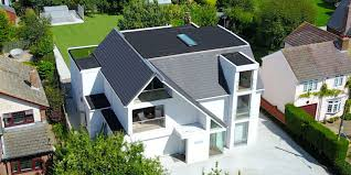 wonderful glass shape with roof line wall home design