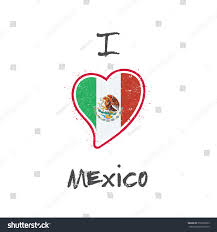 mexico flag patriotic tshirt design heart stock vector 379567063