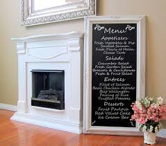 Baroque Home Decor Dining Room Decor Wall Art French Furniture Chalkboard Long