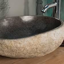 pas japonais en pierre naturelle vasque à poser en galet de rivière naturel ronde d 40 cm