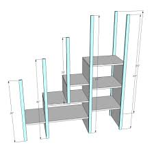 Plans For Building Built In Bunk Beds by Ana White Sweet Pea Garden Bunk Bed Storage Stairs Diy Projects