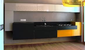 cuisine noir et jaune cuisine jaune noir aubry décoration