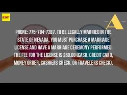 how much is a marriage license in reno nv youtube