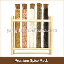 Flat Spice Rack Premium Spice Rack With Wood Stand And Flat Bottom Test Tube Buy