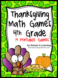 fourth grade thanksgiving activities fun games 4 learning thanksgiving freebies