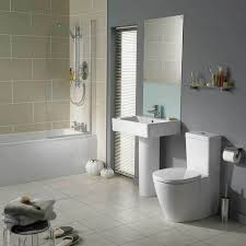 beige and grey bathroom