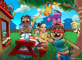 cartoon cinco de mayo cinco de mayo backyard party cartoon