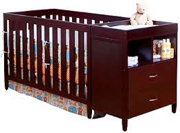 Baby Cribs With Changing Table Attached Bsf Baby Convertible Crib N Changer Combo Cherry Bsf