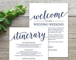 wedding itinerary for guests wedding itinerary etsy