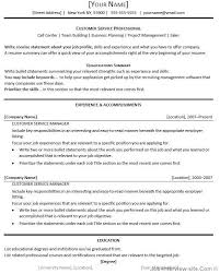 Samples Of Resumes by Examples Of Resumes For Customer Service Customer Service Manager