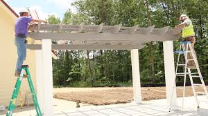 Aluminum Pergola Kits by How To Install A Freestanding Fiberglass Pergola Kit