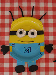 paper plate minion craft here come the girls