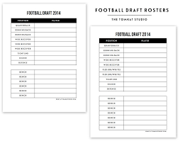 football roster template sample roster template 9 free