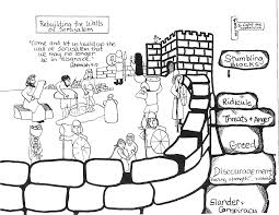 amazing design nehemiah coloring page nehemiah and the wall