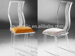 chaise en plexiglas en gros clair vague acrylique dossier haut chaise plexiglas meubles