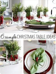 christmas napkin rings table linens 6 simple christmas table ideas perfect for last minute simple