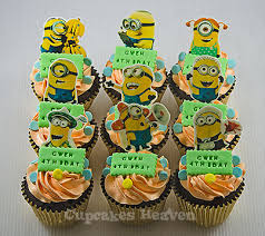 edible minions minions themed birthday cupcakes edible version jakart flickr