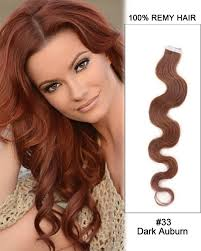 light brown hair piece 22 inch body wave tape in remy hair extensions 33 dark auburn 20
