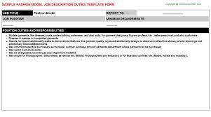 fashion model job description cover letter models sample fashion