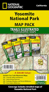 Sequoia National Park Map Yosemite National Park Map Pack Bundle National Geographic