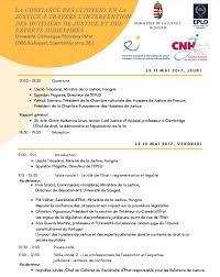 chambre nationale des huissiers de justice annonce 11 mai conférence à budapest sur la confiance des citoyens en la